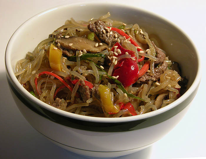 A bowl of japchae goodness