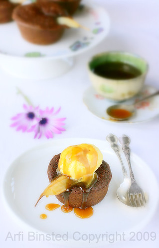 Gluten-Free Almond Chocolate Baby Pear Cakes-2 by ab '09