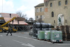 "Installation de la ""Red Bull Crashed Ice"""