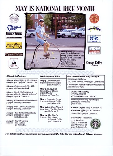 Bike Month Flyer '09