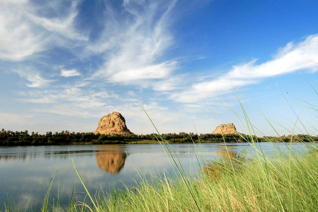 Spectacular natural beauty on the Nile in Sudan