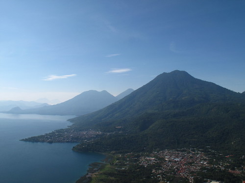 View over Volcan San Pedro & the Lake