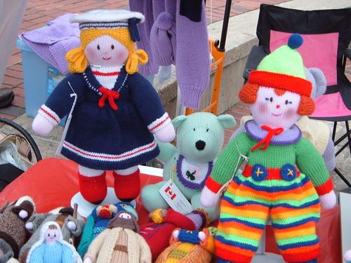 Dolls on display