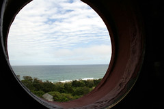 ocean and sky, from the top of the lighthouse