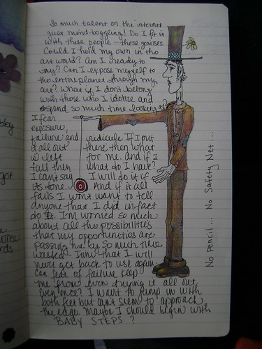 Journal Page - Tall man with yoyo