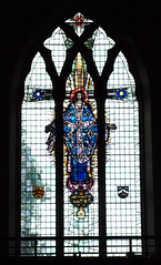 Huge window by LSL at St Mary the Virgin, Cuddington. Click the image to link to another of his windows in the same church.
