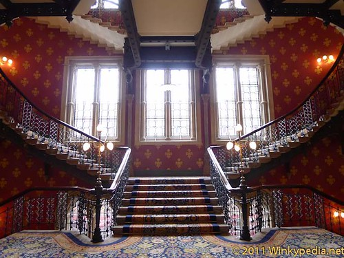 Stairs at St Pancras Hotel