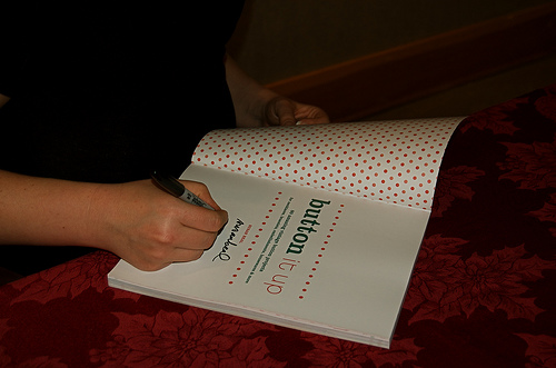 me signing a book