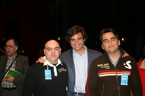 Juan José Güemes con bloggers