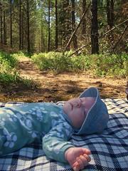 Ava på picnic
