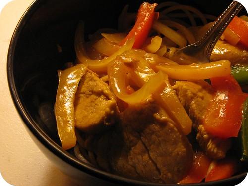 Singapore Noodles and Pork