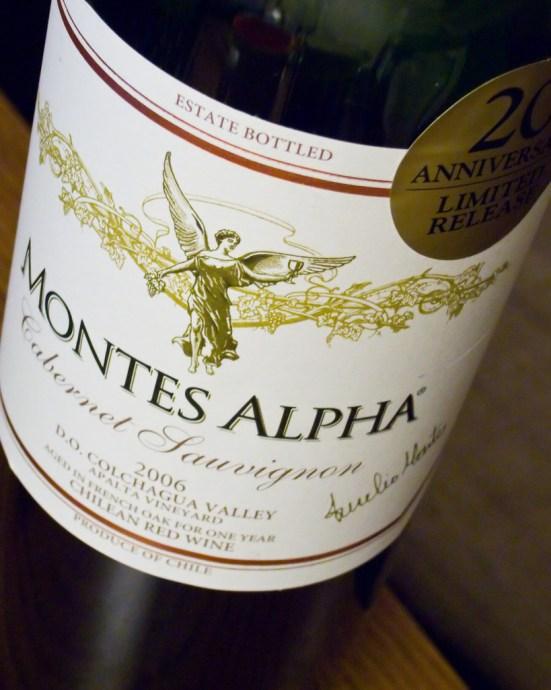 Montes Alpha 2006 Cabernet Sauvignon (by Phanix)