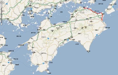 090320 四国ツーリング走行軌跡1