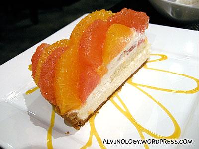 Our orange and grapefruit tart