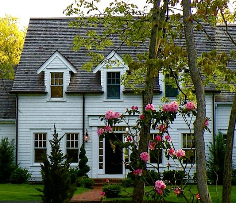 White clapboard house in Osterville MA on Cape Cod