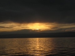 Sunset over Lac Leman