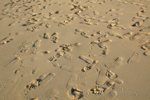 Footprints in the Sand, Calaguas Island, Camarines Norte