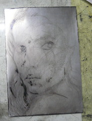 Drypoint - inked plate for FP