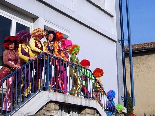 Some colorful stair dancing at the Carnaval de Romans.