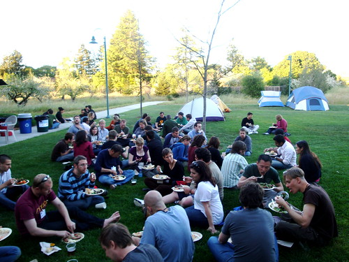 Dinner on the lawn