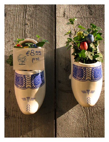 Flowers in clogs by you.