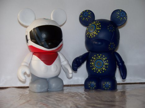 Monorail Mickey and Vinylmation Fireworks