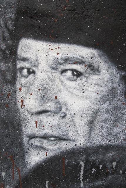 Muammar al Gaddafi Mouammar Kadhafi R.I.P.  Colonel Quaddafi painted portrait _DDC6340