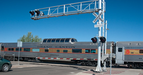 Grand Caynon RR Train at Crossing