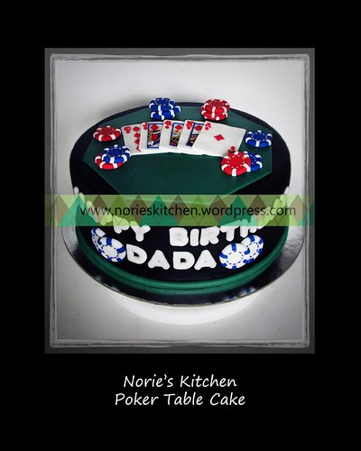 Norie's Kitchen - Poker Table Cake