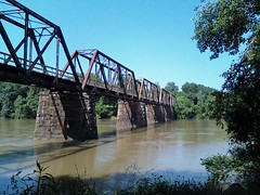 Peak railroad trestle over the Broad River. #fb