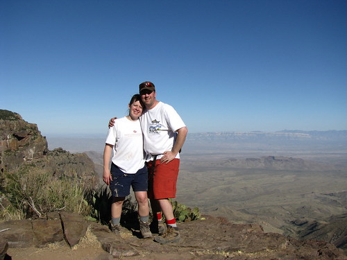 Rich and Tab pose in front of the precipice at the South Rim