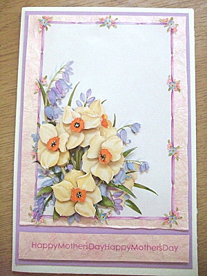 card i made for my maternal grandmother, using decoupage