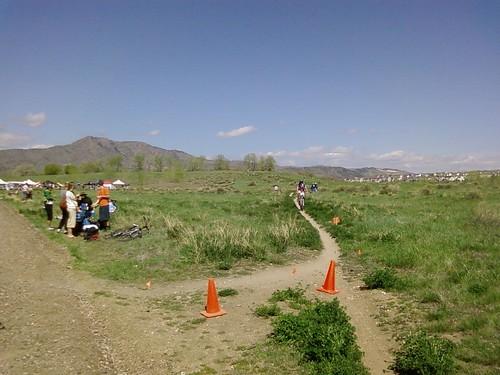 Last corner before the finish line