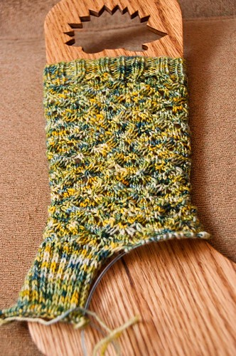 Glynis Socks - WIP - Frogged