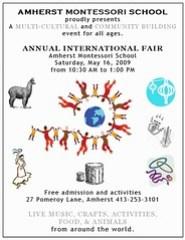 Amherst Montessori School International Fair (May 16th, 2009)