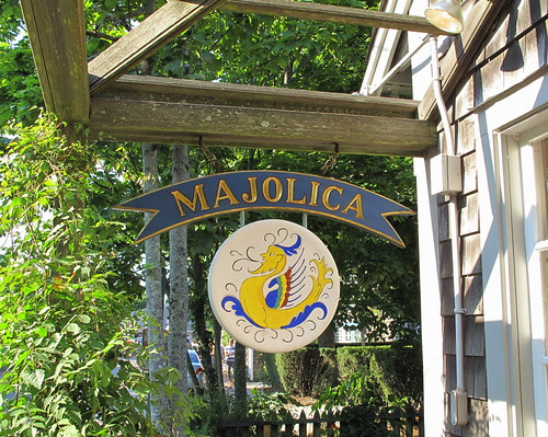 Majolica sign, Nantucket