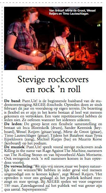 Bandfoto UT Nieuws