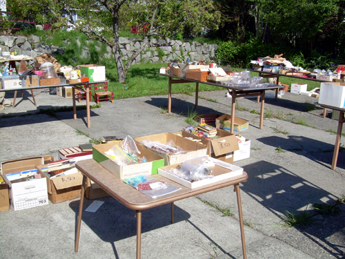 Backyard sale