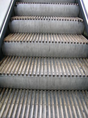 Wooden escalator, Greenford Underground Station, London
