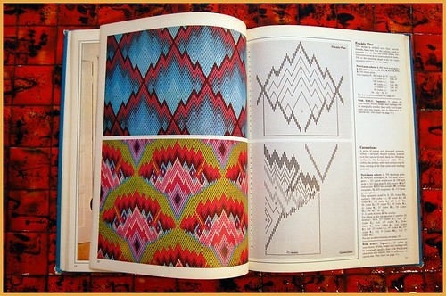 (vintage) book peeks: golden hands bargello