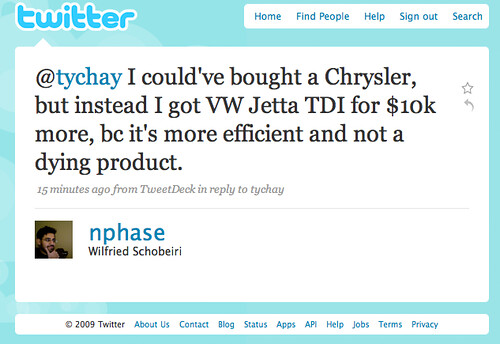 Twitter / Wilfried Schobeiri: @tychay I could've bought ...