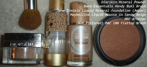 Diorskin Mineral Powder - Jane Iredale - Dream Liquid Mousse Foundation - MAC Bronzer
