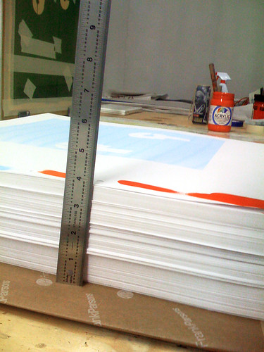 This is what 4 inches of posters looks like on press.
