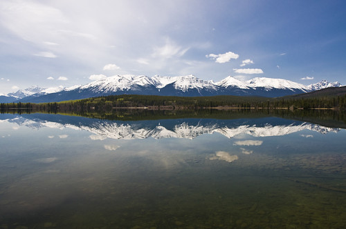 Reflections at Pyramid Lake