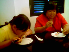 Sam and Gundot at Mitsu Tea House