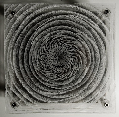 Acropolis II, Hand Etched Plexiglas, 225x225 mm, Justin, 2008