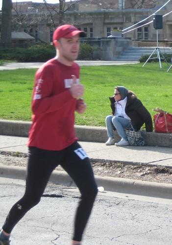 Rob 9 miles into the marathon