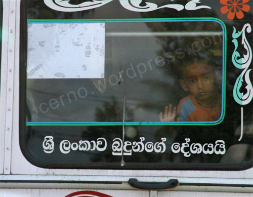 Kid in a bus, Sri Lanka