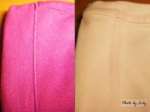 Uniqlo與Lativ抗UV外套連帽縫製比較