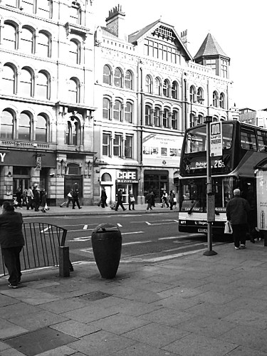 bus outside a busstop
